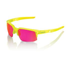 100% Speedcoupe STD Pyöräilylasit , keltainen/vaaleanpunainen